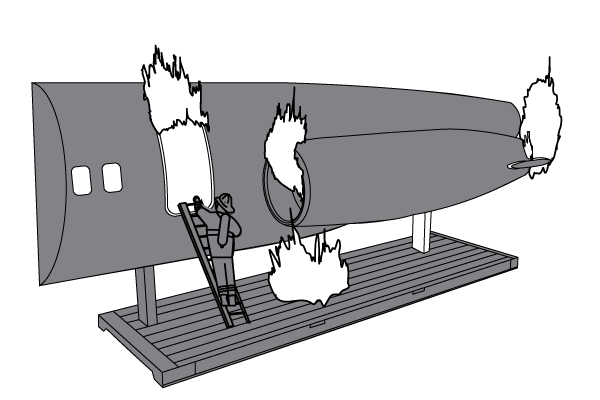 139Fire | MD-80 Fuselage Trainer (Aft Section)